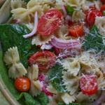 Spring Spinach Pasta Salad
