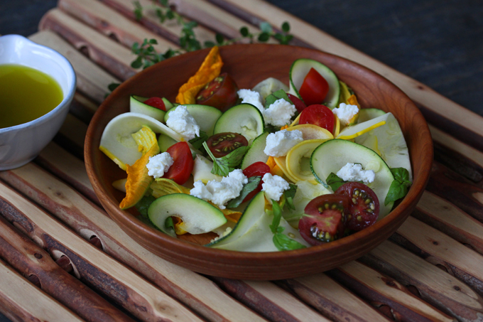 Shaved-Squash Salad With Tomatoes, Zucchini Blossoms ...