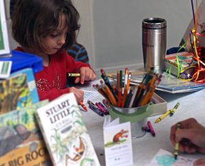 Saratoga Springs Public Library Activity.  Photo by Pattie Garrett