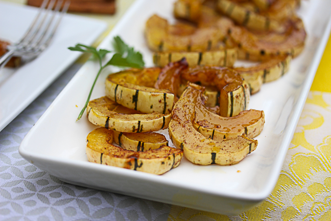 Delicate Squash with Maple Syrup and Jam