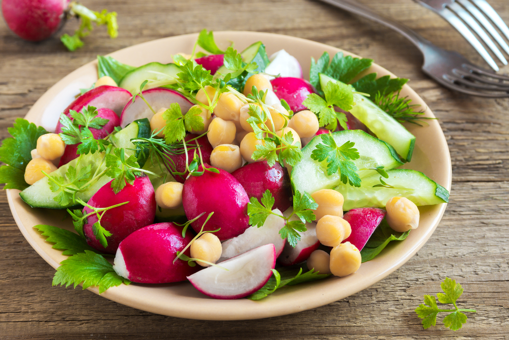 Hearty Radish Greens Salad