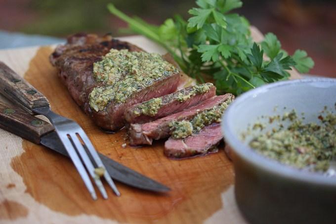 Strip Steak with Salsa Verdi