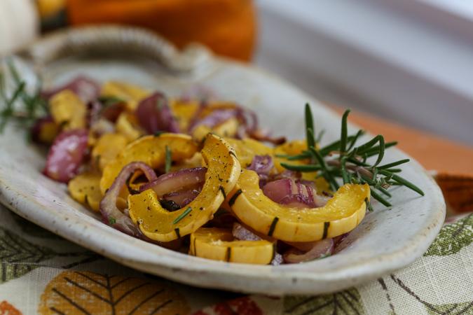 Delicata Squash and Onions