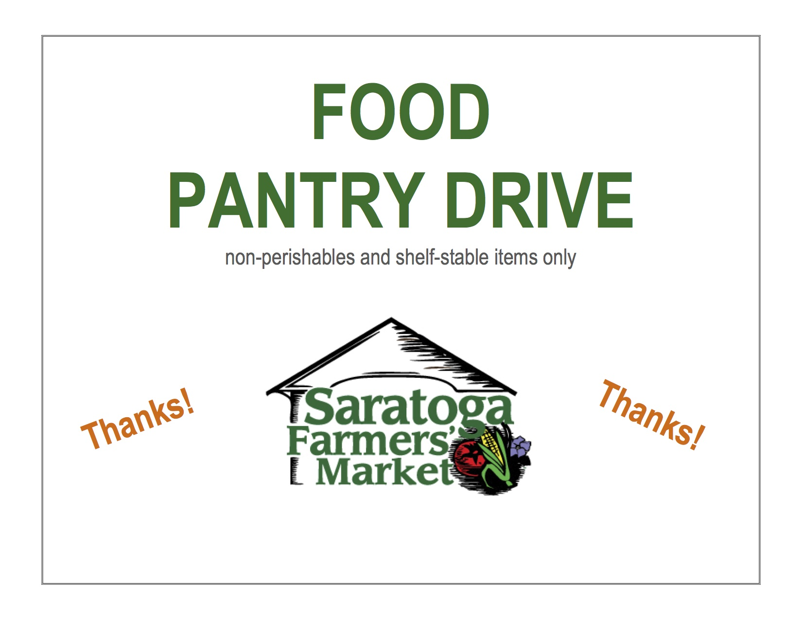 Market Collecting Food Pantry Donations