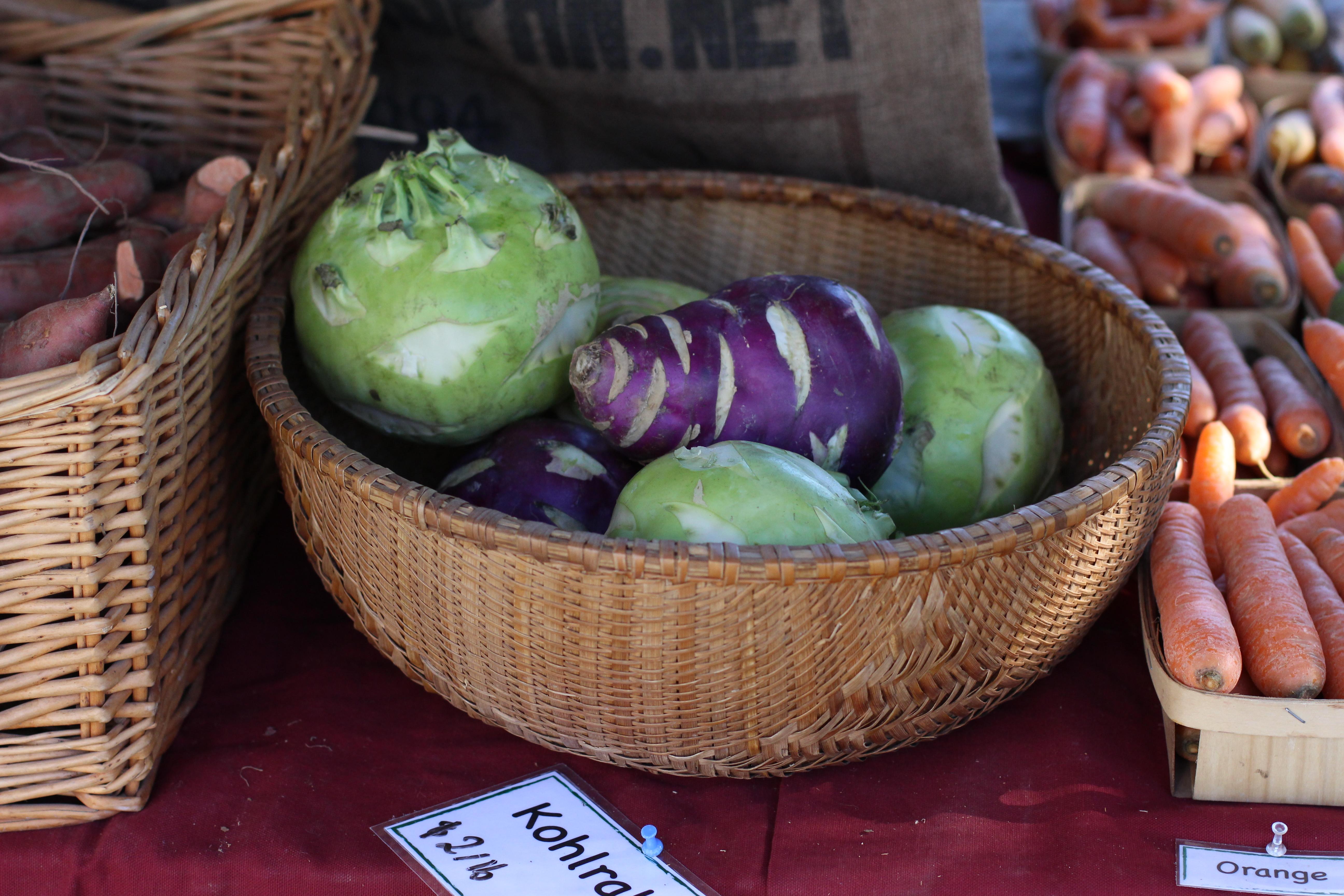Kohlrabi at Saratoga Farmers' Market