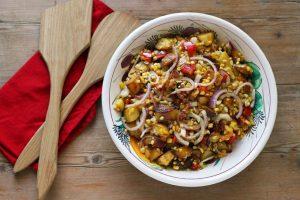 Corn Chowder Salad by Pattie Garrett of My Saratoga Kitchen Table