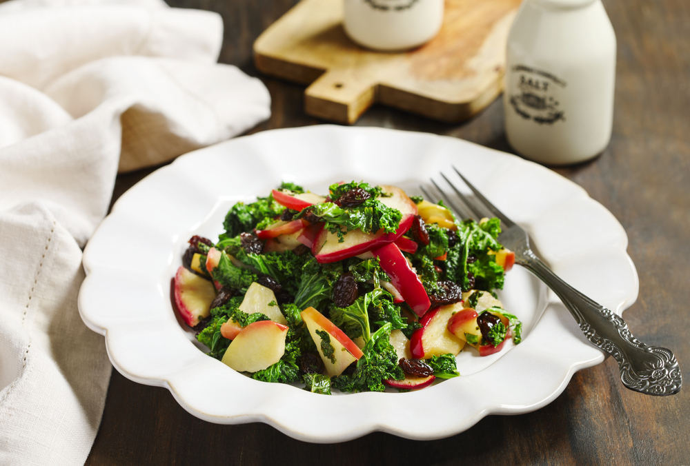 Tossed Apple and Kale Salad