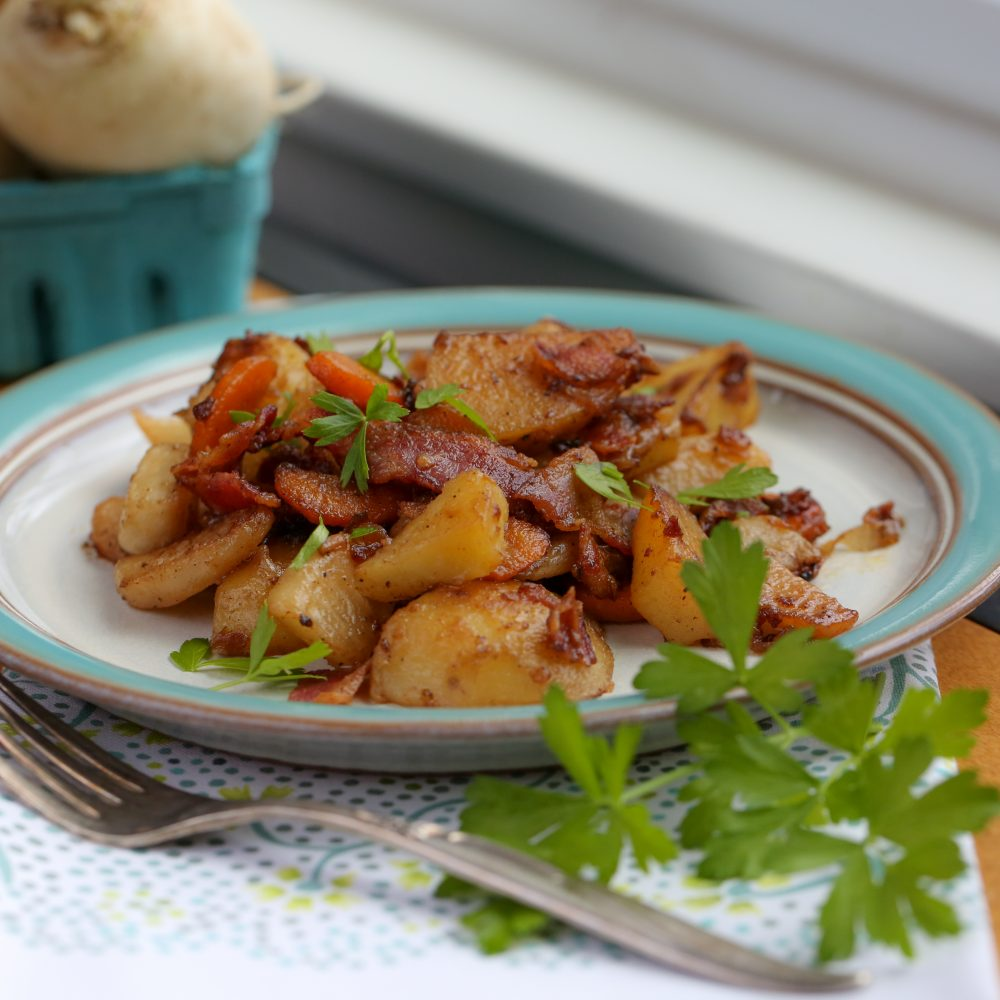 Turnips and Potatoes with Bacon